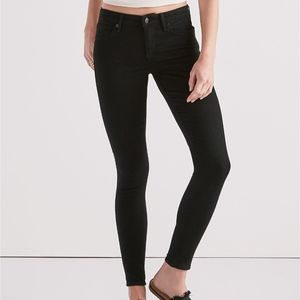 Lucky Brand Women Ava Skinny Black Suede NWT